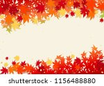 autumn leaves and beige... | Shutterstock .eps vector #1156488880