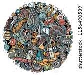 cartoon vector doodles... | Shutterstock .eps vector #1156490539