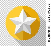 golden star icon in flat style... | Shutterstock .eps vector #1156492603