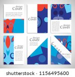 set of a4 cover  abstract... | Shutterstock .eps vector #1156495600