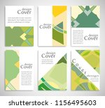 set of a4 cover  abstract... | Shutterstock .eps vector #1156495603