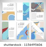 set of a4 cover  abstract... | Shutterstock .eps vector #1156495606
