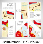 set of a4 cover  abstract... | Shutterstock .eps vector #1156495609