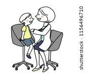 female doctor examining child... | Shutterstock .eps vector #1156496710