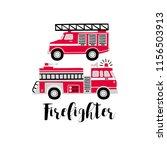 Hand Drawn Vector Fire Trucks...