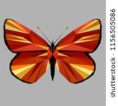 butterfly polygonal low poly...   Shutterstock .eps vector #1156505086