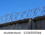 Coils Of Barbed Wire With...