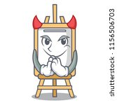Devil Easel Mascot Cartoon Style