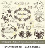 decorative elements for elegant ... | Shutterstock .eps vector #115650868