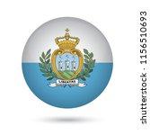 san marino glossy round button. ... | Shutterstock .eps vector #1156510693