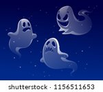 vector set of ghost apparition... | Shutterstock .eps vector #1156511653