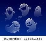 vector set of ghost apparition... | Shutterstock .eps vector #1156511656
