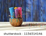 rolls of multicolored clothes... | Shutterstock . vector #1156514146
