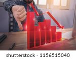 bad investment or economic... | Shutterstock . vector #1156515040