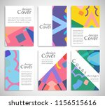 set of a4 cover  abstract... | Shutterstock .eps vector #1156515616