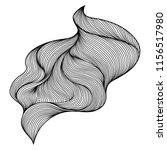 wave hair line curl. monochrome ... | Shutterstock .eps vector #1156517980