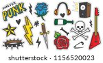 vintage 80s 90s rock and roll... | Shutterstock .eps vector #1156520023