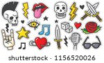 vintage 80s 90s rock and roll... | Shutterstock .eps vector #1156520026