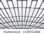conic roof construction. frame... | Shutterstock . vector #1156522066