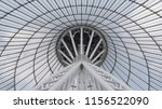 giant metall colums holding a... | Shutterstock . vector #1156522090