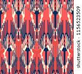 ikat seamless pattern design.... | Shutterstock . vector #1156523509