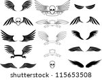 set of wings | Shutterstock .eps vector #115653508