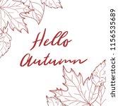 autumn background. hand drawn... | Shutterstock . vector #1156535689