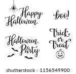 halloween calligraphy set. hand ... | Shutterstock .eps vector #1156549900