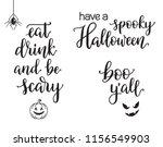 hand written calligraphy set... | Shutterstock .eps vector #1156549903