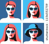 four abstract portraits of... | Shutterstock .eps vector #1156552759