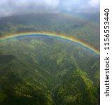 Rainbow Against Green Landscap...