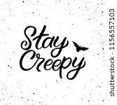 hand drawn lettering haloween... | Shutterstock .eps vector #1156557103