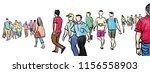 illustration sketch panorama... | Shutterstock . vector #1156558903