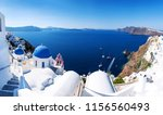 panoramic view with greek... | Shutterstock . vector #1156560493