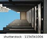 soviet moscow ghetto dormitory...   Shutterstock . vector #1156561006