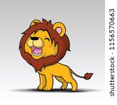 cute lion cartoon vector | Shutterstock .eps vector #1156570663