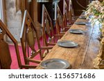 medieval dining table and... | Shutterstock . vector #1156571686