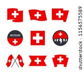 switzerland flag vector icons... | Shutterstock .eps vector #1156575589