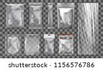 big set of transparent empty... | Shutterstock .eps vector #1156576786