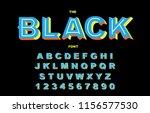 vector of stylized vintage font ... | Shutterstock .eps vector #1156577530
