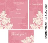 wedding invitation cards with... | Shutterstock .eps vector #115657900