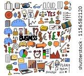 set of business doodle vector....   Shutterstock .eps vector #1156582120