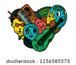 vector bright print rock party... | Shutterstock .eps vector #1156585573