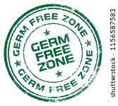 germ free zone. vector rubber... | Shutterstock .eps vector #1156587583