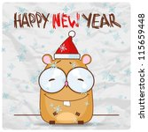 greeting christmas card with... | Shutterstock .eps vector #115659448