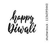 happy diwali   hand drawn... | Shutterstock .eps vector #1156595443