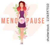 concept of menopause in the...   Shutterstock .eps vector #1156597510