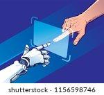 hands of robot and human... | Shutterstock .eps vector #1156598746