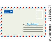 white  envelope with stamp.... | Shutterstock .eps vector #115660174
