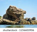 rock in the sea                 ... | Shutterstock . vector #1156603906
